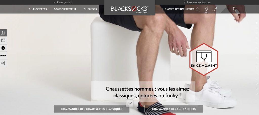 blacksocks box vetements homme