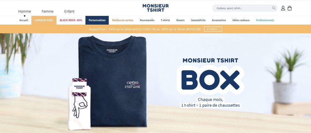 monsieur tshirt box vetement