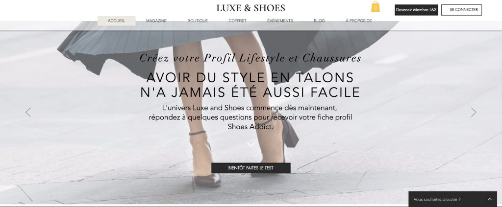 luxe and shoes box chaussures
