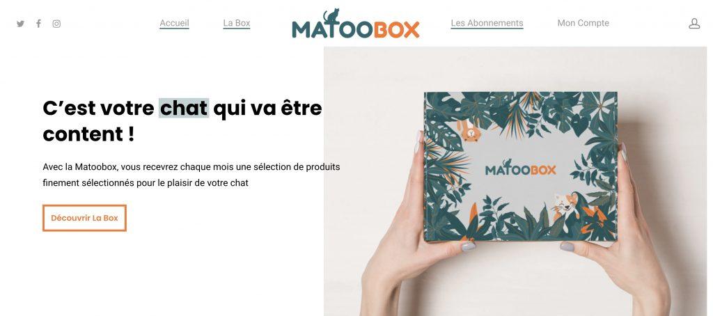 matoobox box mensuelle chat