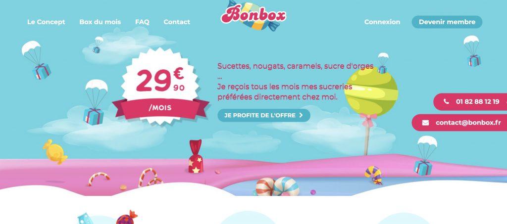 bonbox box mensuelle bonbon