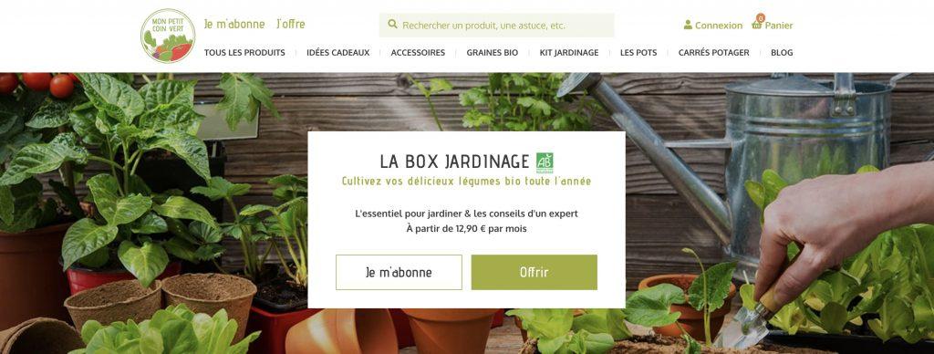 Mon petit coin vert box jardinage