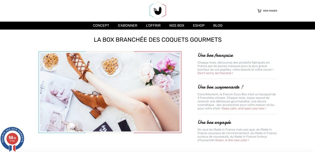 Box beauté french coco box