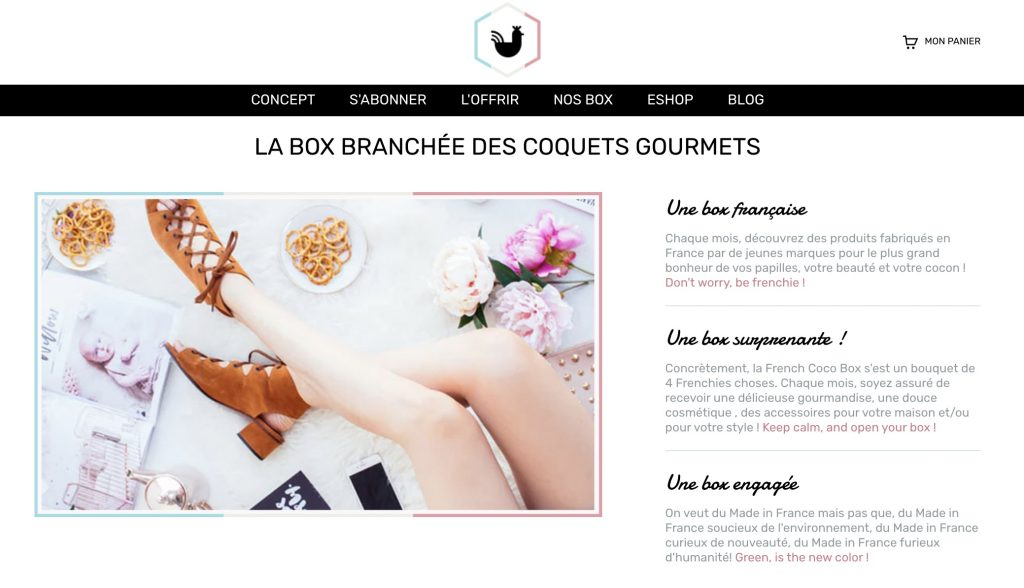 box vegan french coco box