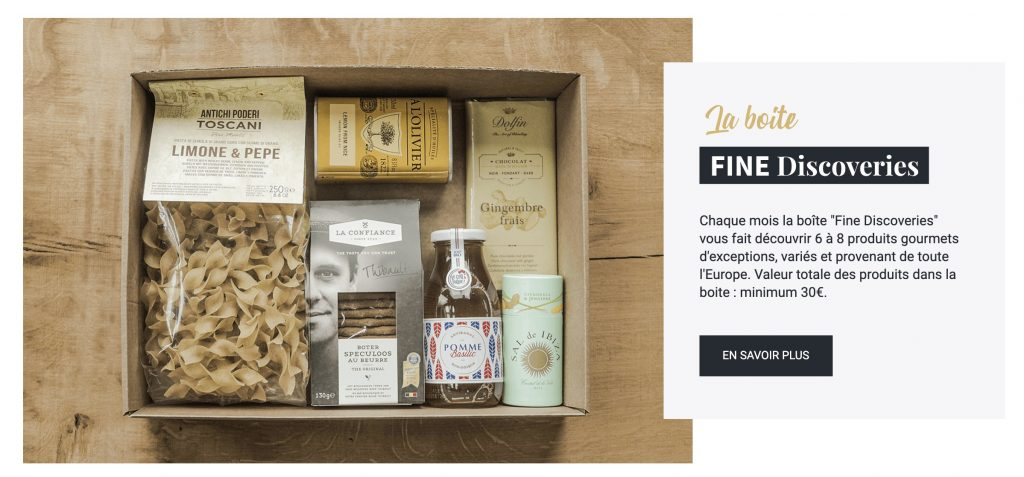 box nourriture fine discoveries