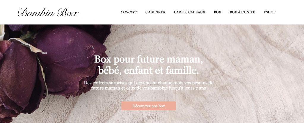 box grossesse bambin box