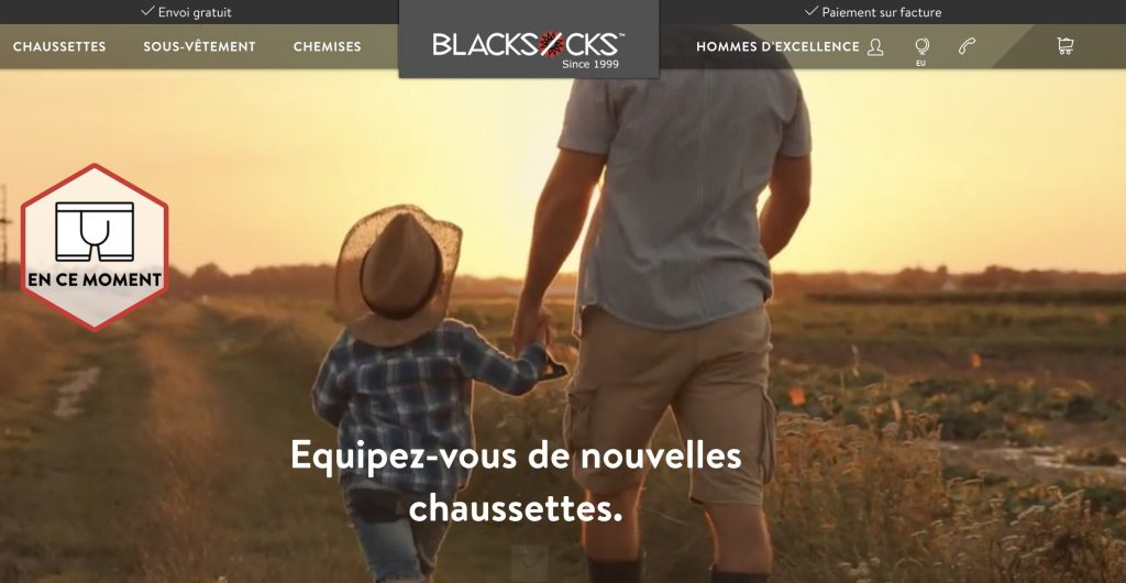 box chaussettes homme blacksocks