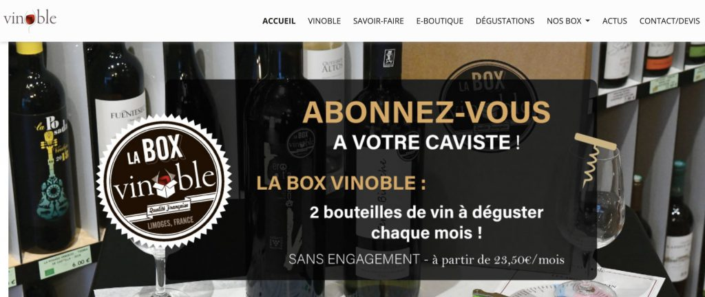 box vins vignoble