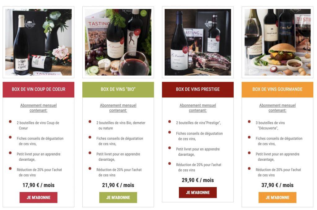 box sommellerie de france vin