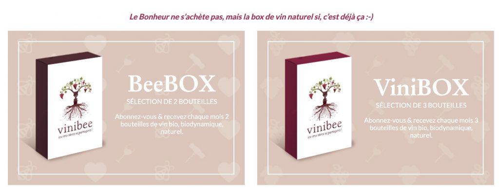 box vinibee vins
