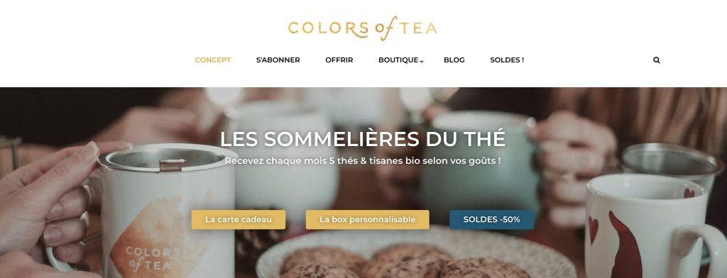box thé colors of tea