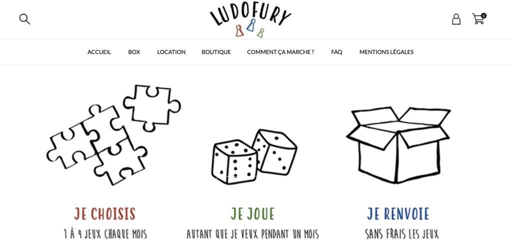 box jeux ludofury