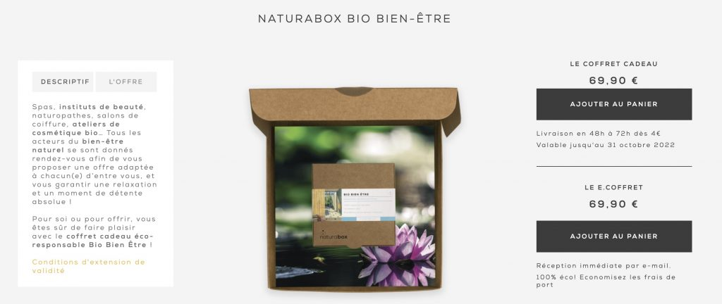 naturabox coffret detente