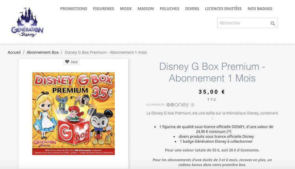 Disney G box