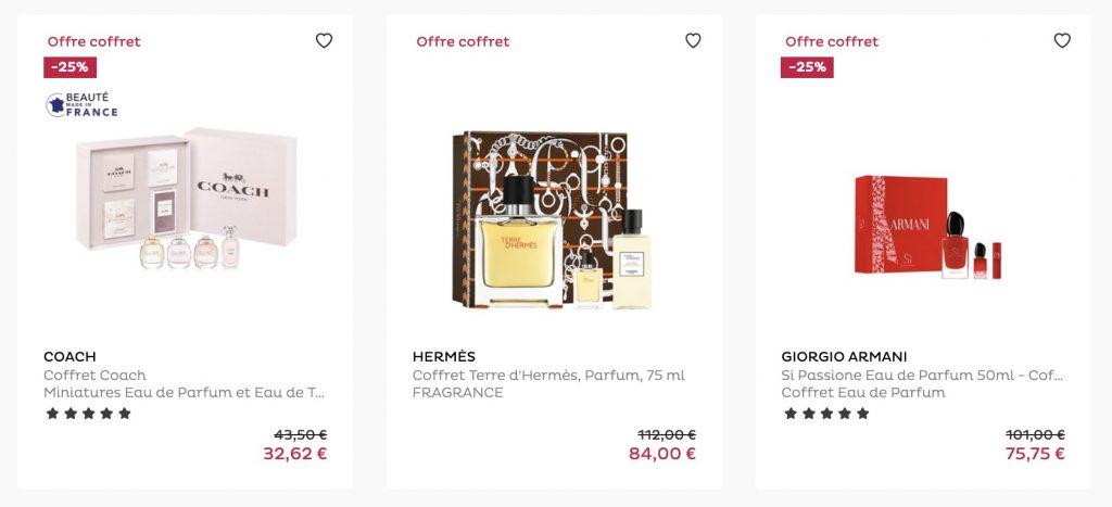 box parfum nocibe