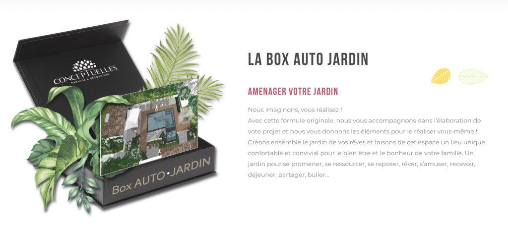 box auto jardin box paysagiste