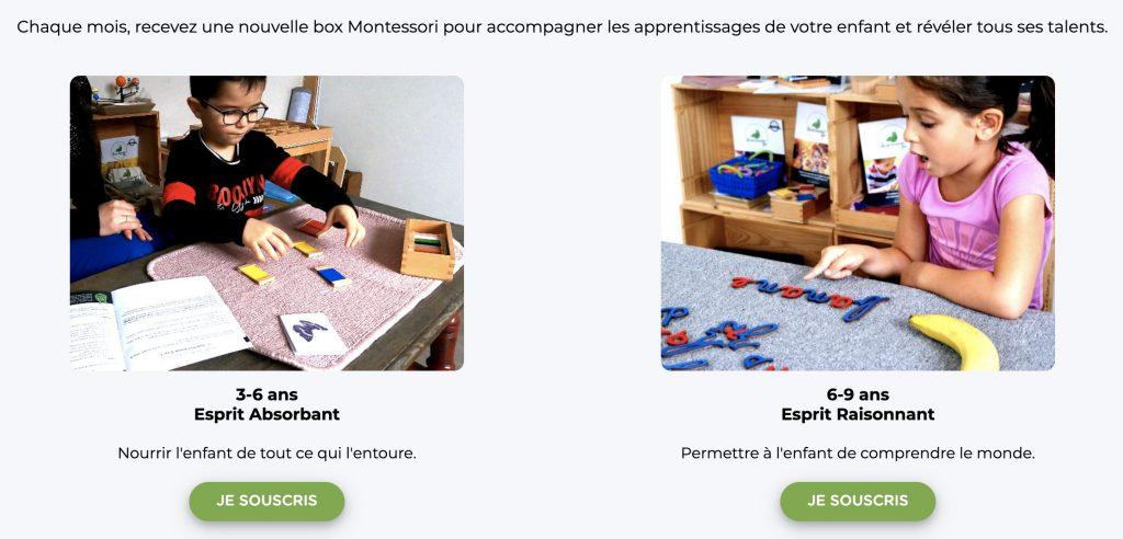 ma montessori box educative