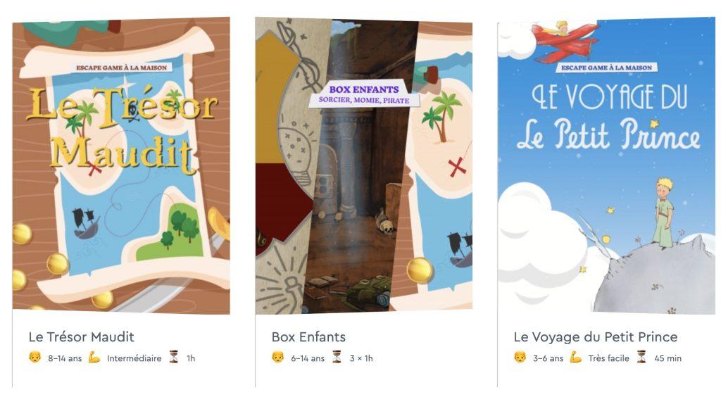 escape kit box enfant pedagogique