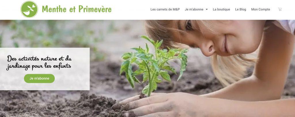 box menthe et primevere activites nature jardinage