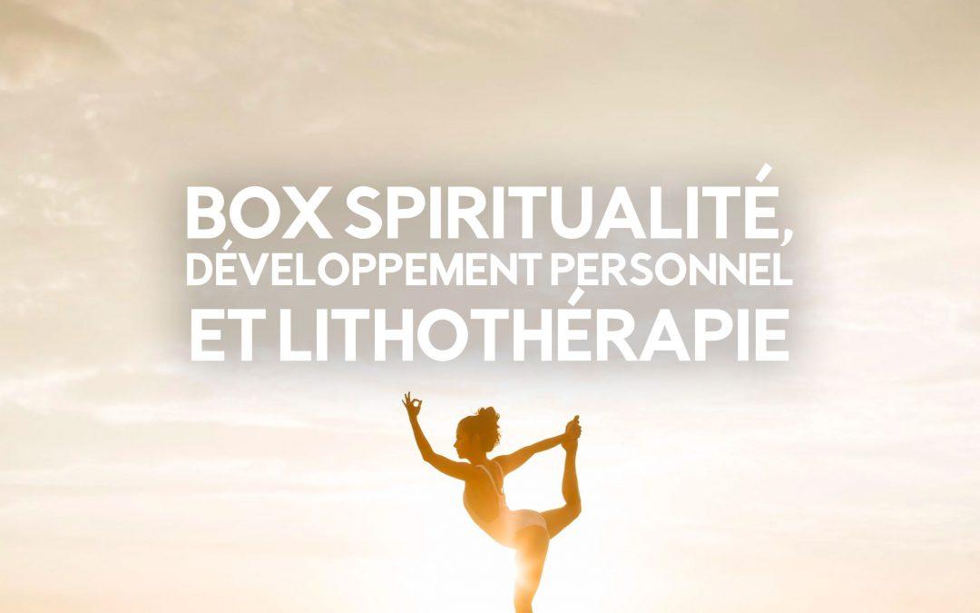 box spiritualite developpement personnel et lithotherapie