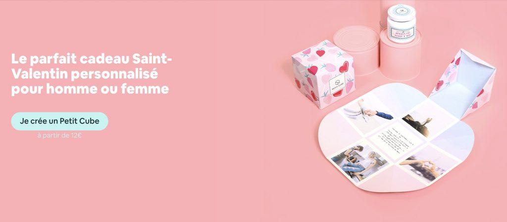 petit cube cadeau saint valentin