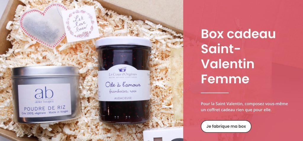 fabrique a box box saint valentin femme