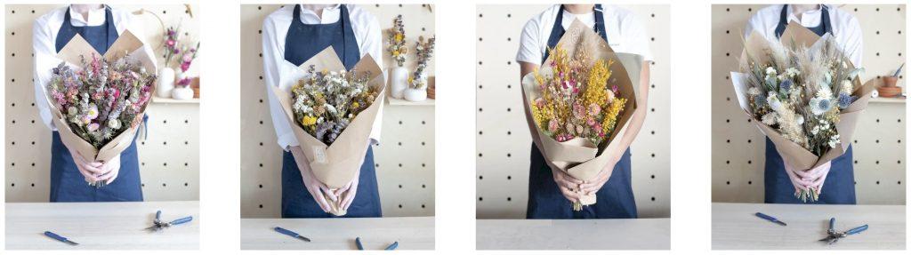 monsieur marguerite fleurs seches